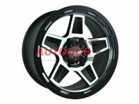 Диск колесный литой HERCULES черно-серебристый 16x8 5X139.7 d110 ET 0 PDW