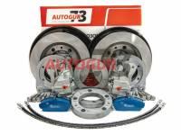 Дисковые тормоза УАЗ на военный передний мост (комплект) Autogur73